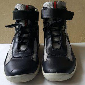 Mens prada American cup classic high tops sneakers